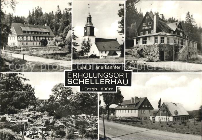 Schellerhau Teilansichten Erholunsort im Erzgebirge Kat. Altenberg