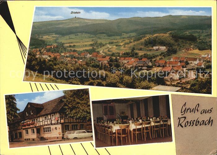 Rossbach Witzenhausen Panorama Gast und Pensionshaus Zum Stern Gastraum Kat. Witzenhausen