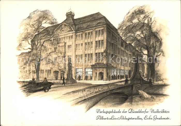 Duesseldorf Verlagsgebaeude Albert Leo Schlageterallee Kat. Duesseldorf