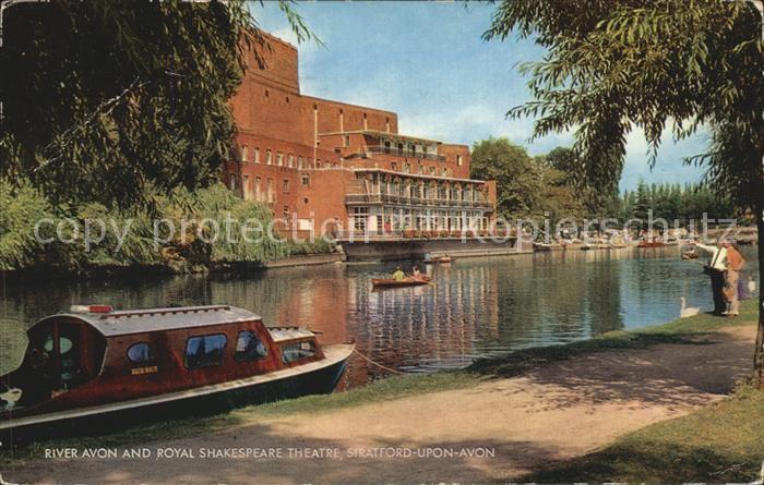 Stratford Upon Avon River Avon and Royal Shakespeare Theatre Kat. Grossbritannien