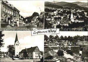 Wiehl Gummersbach Hotel zur Post Ortsansicht mit Kirche Minigolf Kat. Wiehl