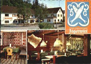 Obernberg Inn Forellengasthof Jagerwirt Gaststube Kat. Obernberg am Inn