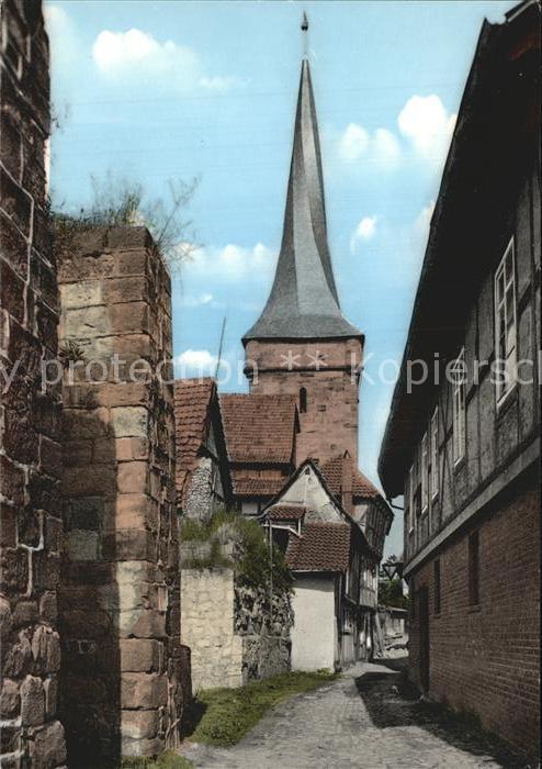 Duderstadt Mauer mit Westerturm Kat. Duderstadt