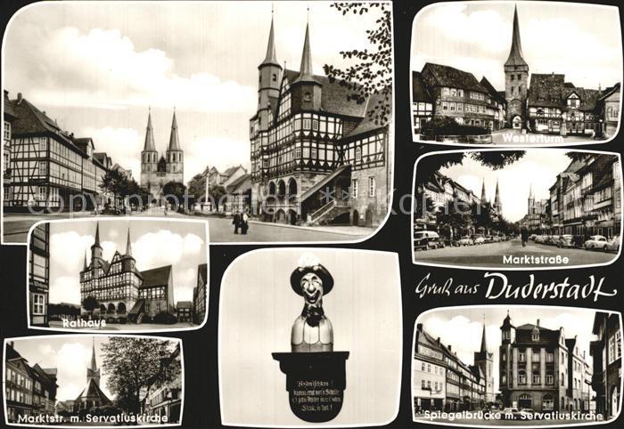 Duderstadt Westerturm Marktstrasse Spiegelbruecke Kat. Duderstadt