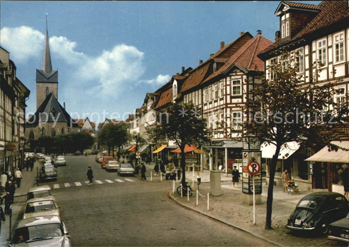 Duderstadt Marktstrasse mit St. Servatiuskirche Kat. Duderstadt