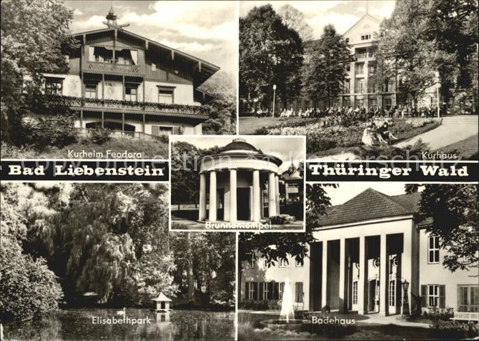 Bad Liebenstein Kurheim Feodora Elisabethpark Badehaus  Kat. Bad Liebenstein