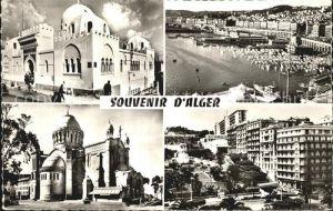 Alger Algerien Moschee Hafen Strassenpartie
