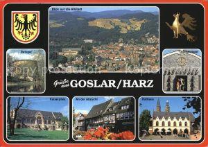 Goslar Fliegeraufnahme Zwinger Glockenspiel Kaiserpfalz Abzucht Kat. Goslar