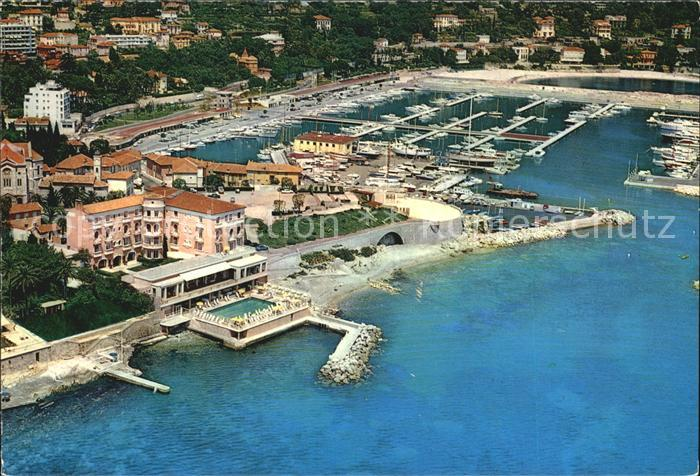 Beaulieu sur Mer Fliegeraufnahme La Reserve de Beaulieu Hotel mit Hafen Kat. Beaulieu sur Mer