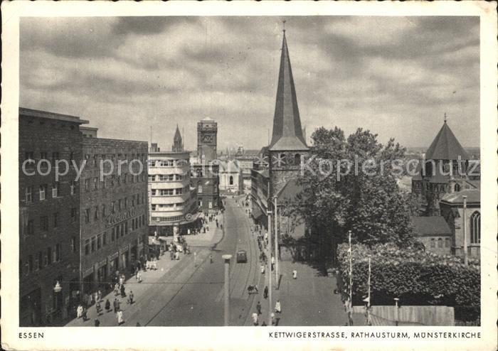 Essen Ruhr Kettwigerstr Rathausturm Muensterkirche Kat. Essen