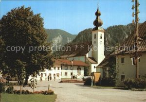 Inzell Dorfplatz mit Kirche Kat. Inzell