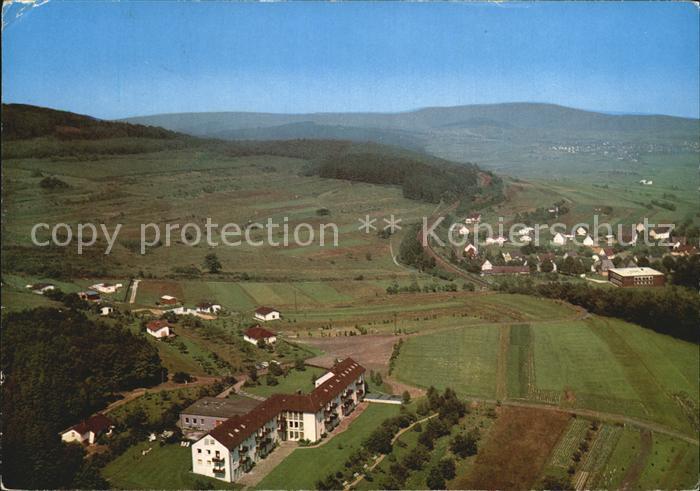 Holzhausen Burbach Fliegeraufnahme Familienferienheim des Blauen Kreuzes