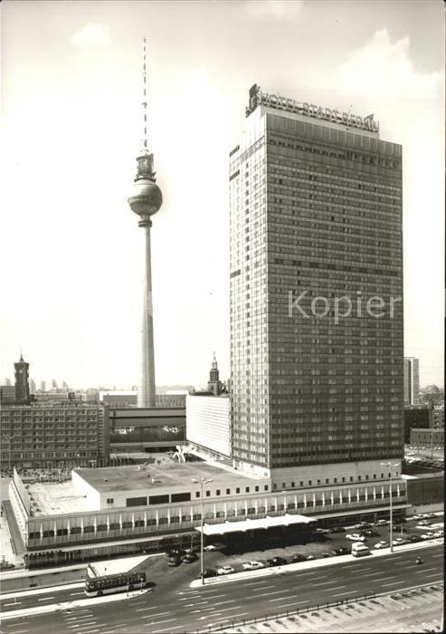 Berlin Fernsehturm und Interhotel Stadt Berlin Kat. Berlin