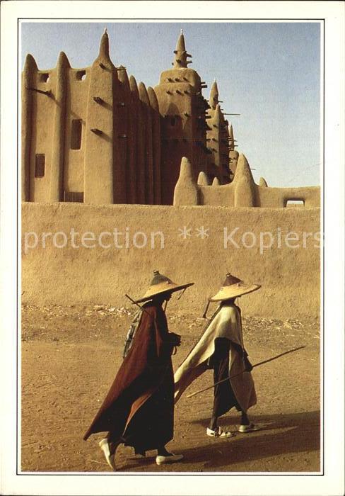 Djenne Moschee aus Tonerde und Peul Hirten