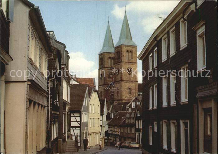 Schwelm Koelner Strasse und Christuskirche Kat. Schwelm