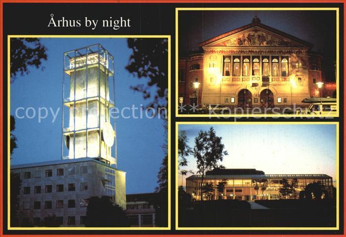 Arhus by night Kat. Arhus