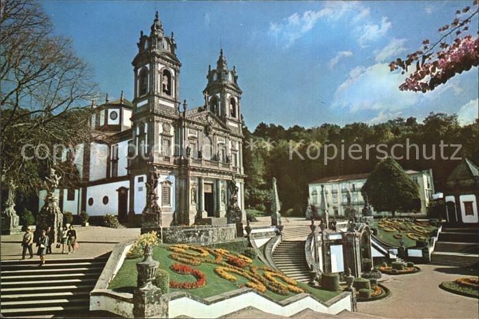 Braga Bom Jesus Frontansicht des Heiligtums Kat. Braga