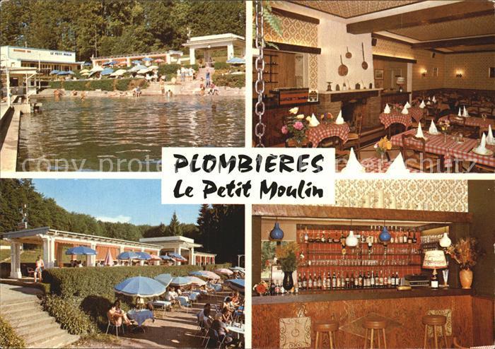 Plombieres les Bains Vosges Le petit moulin Freibad Kat. Plombieres les Bains
