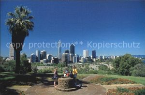 Perth Western Australia Panoramic view of city skyline from Kings Park Wishing Well Kat. Perth