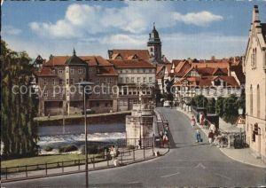 Hannoversch Muenden Werrabruecke mit Eingang zur Stadt Kat. Hann. Muenden