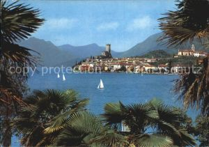 Malcesine Lago di Garda Panorama Castello Chiesa Kat. Malcesine