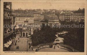 Wiesbaden Kranzplatz mit Kochbrunnen Kat. Wiesbaden