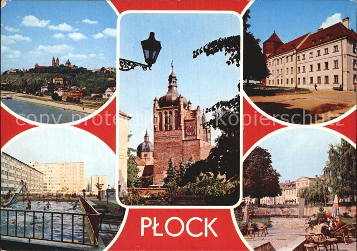 Plock Wzgorze Tumskie Wieza Zegarowa Zamek Muzeum Osiedle mieszkaniowe Kawiamia Zamkowa Kat. Plock
