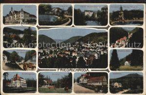 Friedrichroda Kurhaus Spiessberghaus Parkpartie Schloss Reinhardsbrunn Kat. Friedrichroda