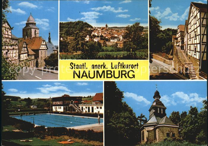 Naumburg Hessen Kirche Freibad  Kat. Naumburg