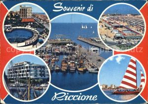 Riccione Fliegeraufnahme Strand Hafen