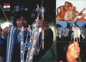 Paraguay Indianer Musikgruppe Kat. Paraguay