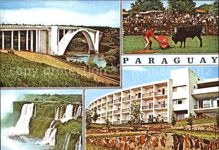 Paraguay Stierkampf Wasserfaelle Bruecke Kat. Paraguay