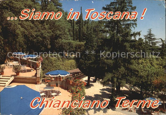 Chianciano Terme St Helena Quelle Park  Kat. Chianciano Terme