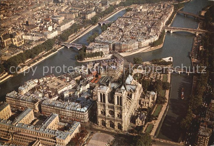 Paris Fliegeraufnahme Notre Dame Saint Louis  Kat. Paris
