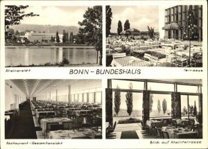Bonn Rhein Bundeshaus Terrasse Rheinterrasse Restaurant  Kat. Bonn