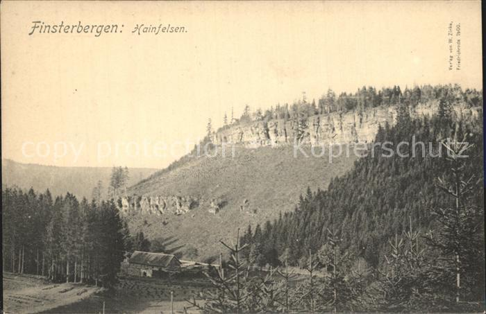 Finsterbergen Hainfelsen Kat. Finsterbergen Thueringer Wald