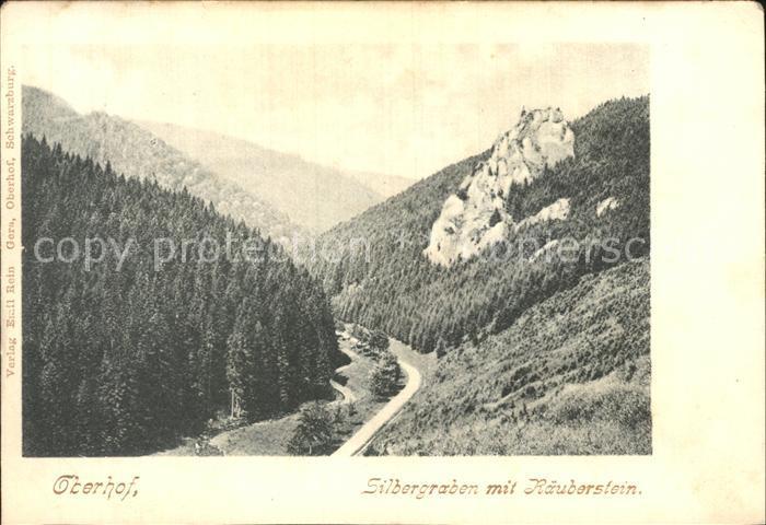 Oberhof Thueringen Silbergraben mit Raeuberstein Kat. Oberhof Thueringen