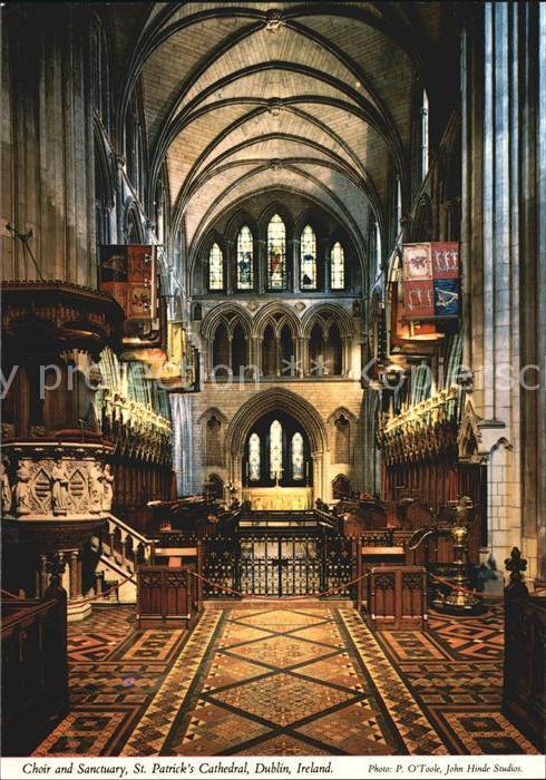 Dublin Ireland Choir and Sanctuary St Patricks Cathedral Kat. United Kingdom