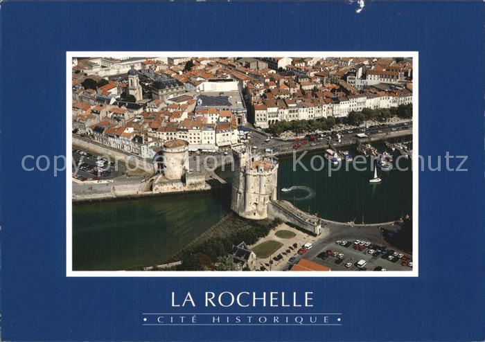 La Rochelle Charente Maritime Le vieux port Tour Saint Nicolas Tour de la Chaine vue aerienne Kat. La Rochelle