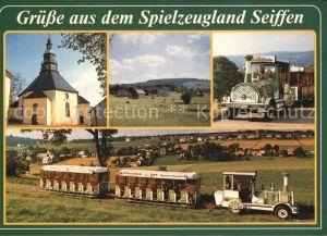 Seiffen Erzgebirge Bimmelbahn  Kat. Kurort Seiffen Erzgebirge