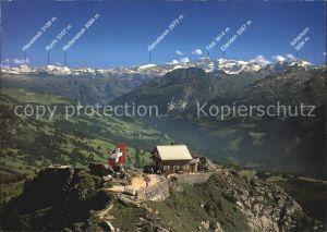 Grosser Mythen Bergrestaurant Muotatal Alpen Fliegeraufnahme Kat. Grosser Mythen