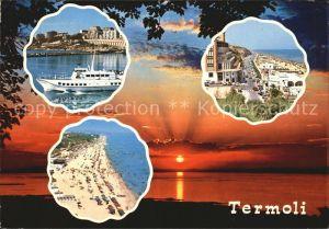 Termoli Schiff Strand Promenade Sonnenuntergang am Meer Kat. Campobasso