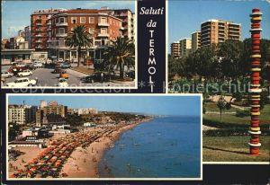 Termoli Platz Strand Hochhaeuser Saeule Kat. Campobasso