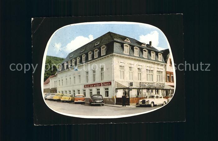 Adenau Hotel Restaurant Cafe Zum Wilden Schwein Kat. Adenau