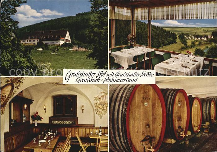 Grafschaft Sauerland Grafschafter Hof mit Keller  Kat. Schmallenberg