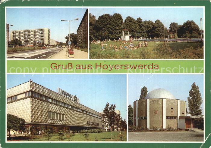 Hoyerswerda Wilhelm Pieck Strasse Freibad Planetarium Kat. Hoyerswerda