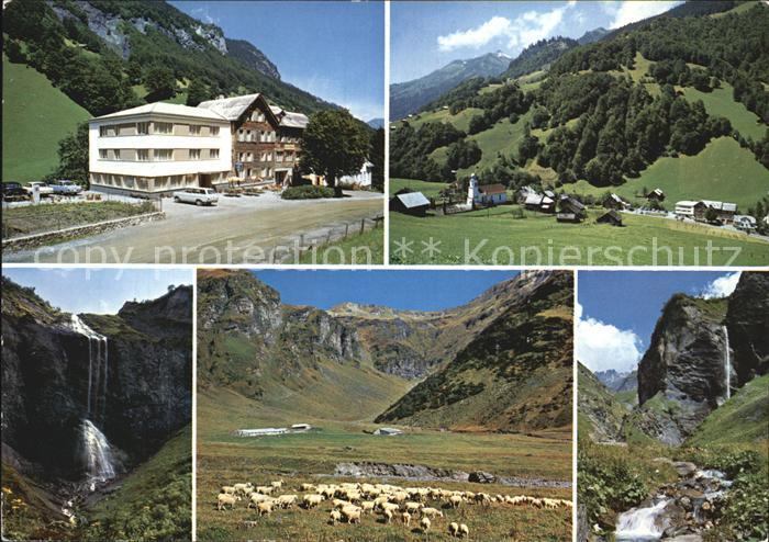 Weisstannen Hotel Gemse Panorama Wasserfall Schafherde Kat. Weisstannen