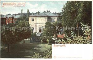 Bayreuth Haus Wahnfried Richard Wagner Kat. Bayreuth