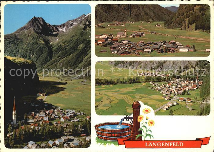 Laengenfeld Oetztal Panorama Blick gegen Sueden Huben Blick gegen Norden Kat. Laengenfeld