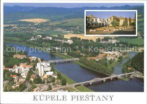 Piestany Kupele Irma a LD Thermia Palace Donau Bruecken Fliegeraufnahme Kat. Piestany